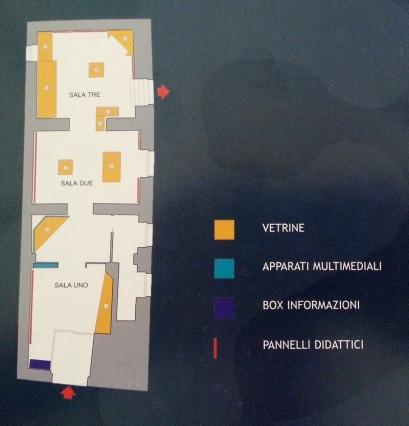 Mappa dell'Antiquarium